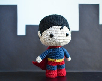 Baby Superhero Crochet Pattern. Superman Crochet Pattern. Superman Amigurumi Crochet. Superman Amigurumi Pattern. Superman PDF Pattern