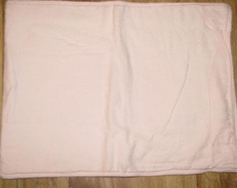 Baby Burp Cloth / Pet Carrier Liner / Light Pink