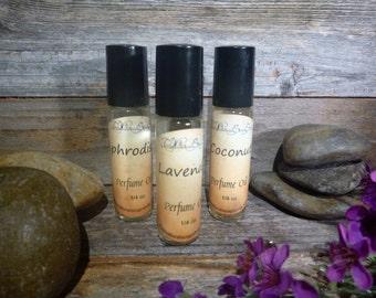 100% Pure Fragrance Body Oil 1/4 oz Roller Bottles BUY 3,GET 1 FREE Fragrance Oils Perfume Scented Body Oil