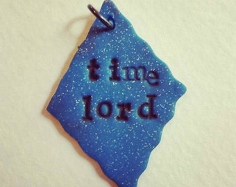 DOCTOR WHO inspired Time Lord pendant