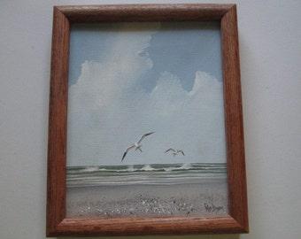 Rex Duggar Seascape Painting 8.5 x 10