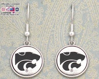 Kansas State Wildcats Medallion Earrings