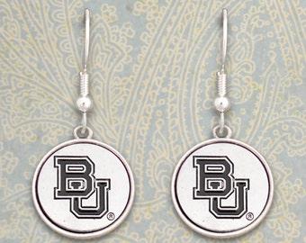 Baylor Bears Medallion Earrings