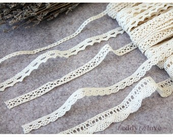 Cotton Ivory beige Lace 2 meters