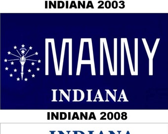 Personalized Indiana Refrigerator Magnet State License Plate Replica