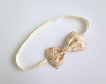 Floral Bow Headband, Baby Headband, Toddler Headband, Newborn Headband, Infant Headband, Baby Headbands, Baby Girl Headband, Bow
