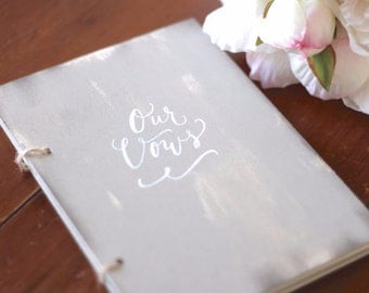 Wedding Vow Book, Our Vows, Rustic Vintage Weddings, Bridal Keepsake Gift, Wedding Decoration,
