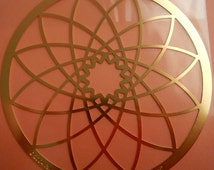 "Gorgeous Large Metal Embossing Stencil Round Medallion Mandala 4"" Paper Crafts Altered Art Cards"