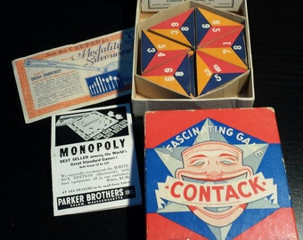 1939 Parker Brothers Contack game, all pieces and instructions included