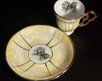 Vintage Kasuga Ware made in Japan. Ornate cup and saucer. Gorgeous!