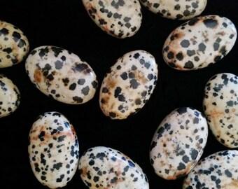Four Dalmation Jasper Oval Gemstone Beads 30 x 40 mm