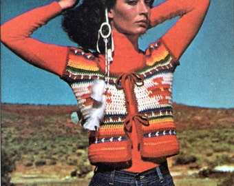 1977 Quick To Crochet - Indian Vest Pattern