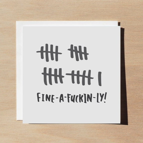 Funny 21st Birthday Card / Adult Humor / By WellSaidCreations