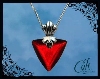 Fate Stay Night sterling silver / faux leather necklace with Rin Tohsaka's Pendant.