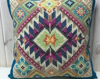 Hand-made embroidered Pillow Cover Greeks Cushion