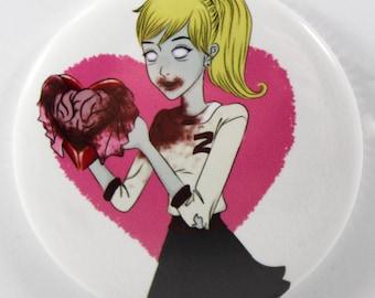 Zombie Girl,Zombie Boyfriend Pocket Mirror