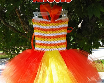 Candy Corn Cutie Tutu Dress MADE TO ORDER