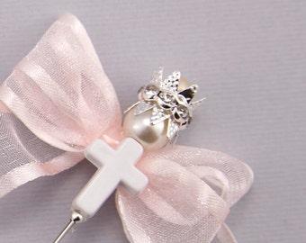 15 pc Martirika Greek Orthodox , Baptism favor for boy/girl Bautizo, Bautizo de recuerdos, Favor Witness Pins Baptism pin with crown