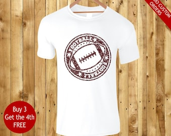football cool urban printed white t shirts with maroon print - football tops t shirts