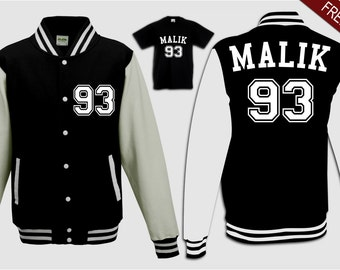custom malik 93 college varsity jacket top sweater teen girl boys