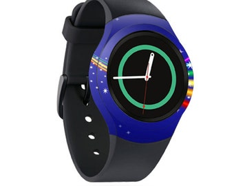 Skin Decal Wrap for Samsung Gear S2, S2 3G, Live, Neo S Smart Watch, Galaxy Gear Fit cover sticker Rainbow Twist