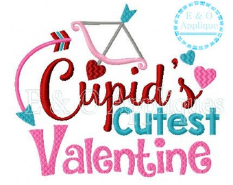 Cupid's Cutest Valentine Embroidery Design - Valentine Embroidery Design - Cupid Embroidery Design - Valentine's Day Embroidery Design