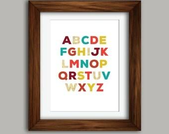 """Alphabet Wall Art: 18x24"""" Print"""
