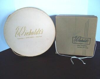 Vintage 1960's - 1970's Wieboldt's Dept. Store Hat Boxes
