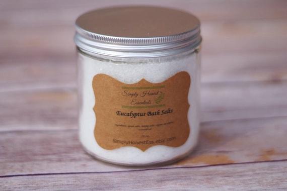Eucalyptus Bath Salts Aromatherapy Epsom Bath Salts