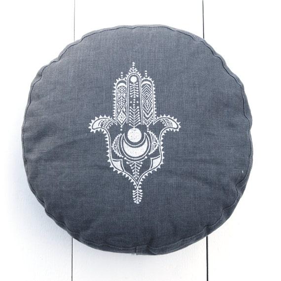 Meditation Cushion Organic Linen Zafu Yoga Zafu By