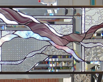 Stained Glass Window Hanging 32 X 12 1/2
