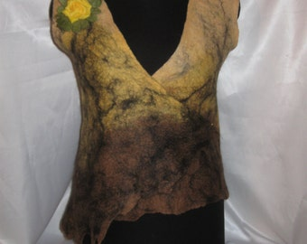 Felting vest for lovers of eco-fashion and not only ..