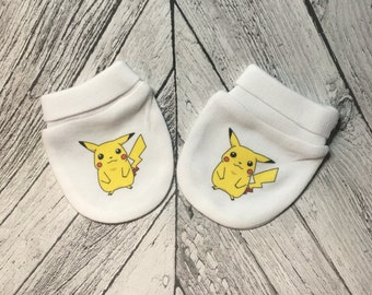 Pokemon Cute Pikachu Baby Scratch Mitts