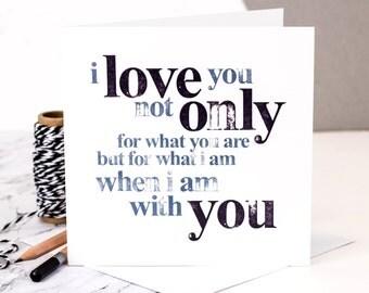 Love Card; I Love You; Valentine Card; Love; Wedding Anniversary; GC018