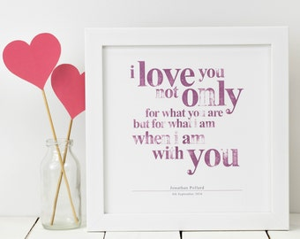 Love Print; Personalised Love Print; I Love You Print; Love Quote; Love; Gift For Her; Girlfriend Gift; Love; Love You Gift; PAP018