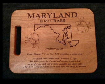Maryland is for Crabs Cutting board