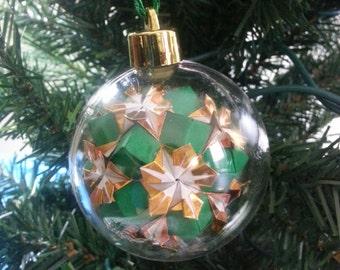 Origami Ornament - Poinsettia Ball