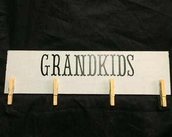 Grandpa Gift - Grandma Gift - Grandkids sign