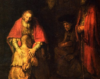 Rembrandt: The Return of the Prodigal Son. Fine Art Print/Poster (00230)