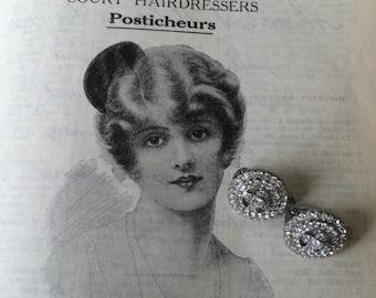 1950's diamante earrings