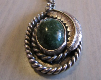 Sterling Silver and Variscite Necklace