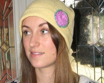 Cashmere Crochet Hat - Beanie Hat