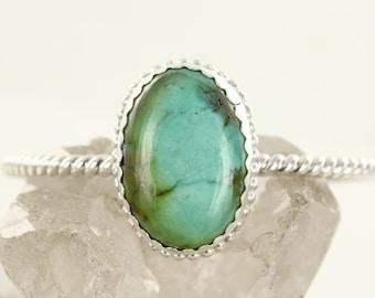 Turquoise cuff - Sterling silver cuff- Bracelet - Handmade