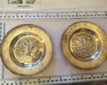 Two sterling silver dishes featuring knights on horses by CJ Vander, London in 1972