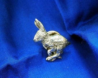 Hare Running Pewter Pin, Badge, Brooch, Wildlife