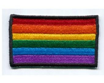 SALE Rainbow Flag Iron On Patch