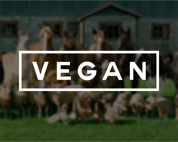 Vegan Vinyl Window Decal