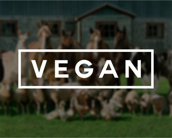 Vegan Vinyl Window Decal