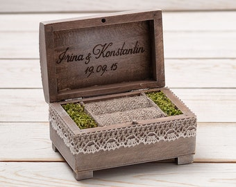 View Ring Bearer Boxes by InesesWeddingGallery on Etsy