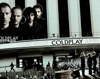 Coldplay 2003 London Concert Poster